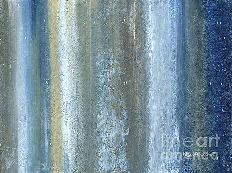 Beautiful Navy Blue and Gray Original Abstract Acrylic Painting Lakewood by Megan Duncanson by Megan Duncanson