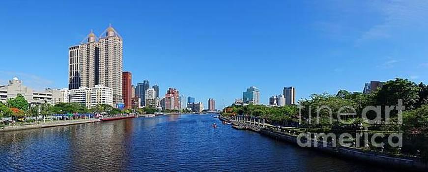 Beautiful Panorama of the Love River in Taiwan by Yali Shi