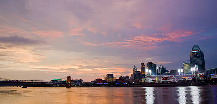 Beautiful OHIO River Sunset by Randall Branham