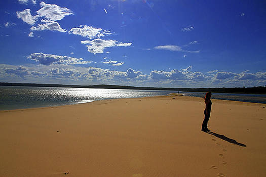 Beauty Footprints Water Sand And Wind  by Miroslava Jurcik
