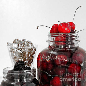 Beauty of Red Cherries by Sherry Hallemeier