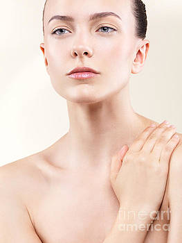 Beauty portrait of young beautiful woman with clean natural look by Oleksiy Maksymenko