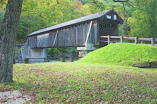 Beaverkill Covered Bridge - Digital Art by Ericamaxine Price