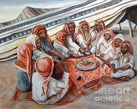 Yvonne Ayoub - Bedouin at Dusk