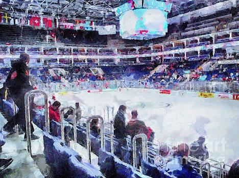 Before the hockey game by Magomed Magomedagaev