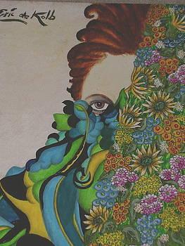 Behind Flowers by Eric de Kolb