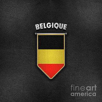 Belgium Pennant with high quality leather look by Carsten Reisinger