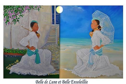 Belle de Lune et Belle Ensoleillee by Katia Creole Art
