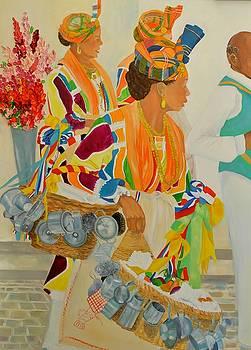 Belle Matador et l accordeoniste details by Katia Creole Art