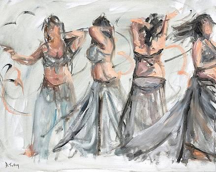 Belly Dancer in Motion by Donna Tuten