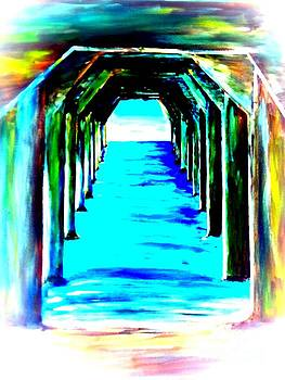 Below A pier by Irving Starr