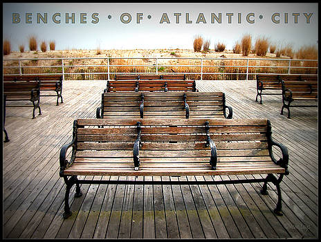 Benches of Atlantic City by Irene Czys