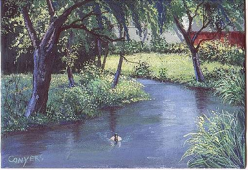 Bend in River by Peggy Conyers