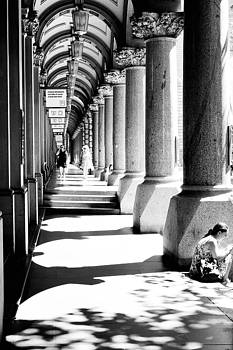 Beneath Colonnades by Paul Donohoe