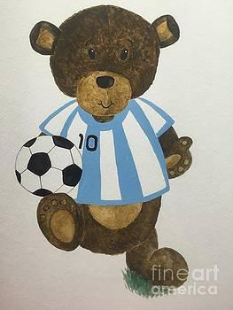Benny bear soccer by Tamir Barkan