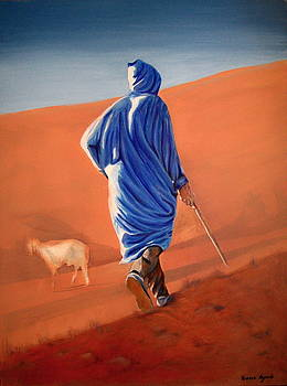 Yvonne Ayoub - Berber Shepherd in the Atlas Mountains