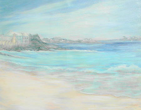 Bermuda Pink Sands Oil Seascape Phyllis O'Shields Contemporary Impressionist  by Phyllis OShields