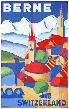 Bern Switzerland Vintage Travel Poster Restored by Carsten Reisinger