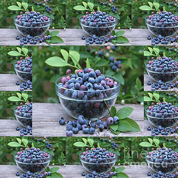 Berries Blueberries fruits foods salads smoothies kitchen chef health  pillows curtains duvets tote  by Navin Joshi