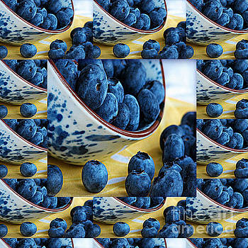 Berries Blueberries fruits salads breakfast kitchen cuisine chef lifestyle health  pillows curtains  by Navin Joshi