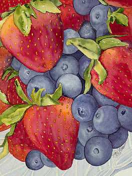 Berries in a Bowl by Karla Horst