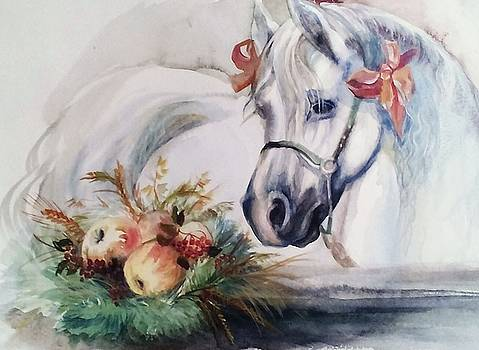 Berthday of Horse  by Valeriya Temnenko