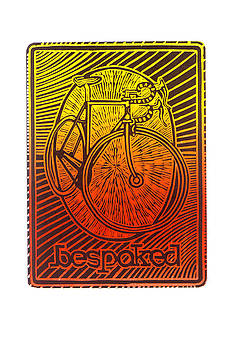 Bespoked bicycle linocut by Mark Howard Jones