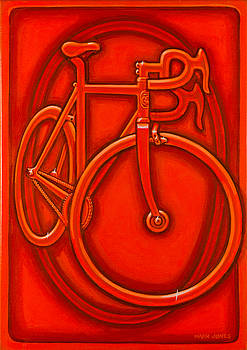 Bespoked in orange  by Mark Howard Jones