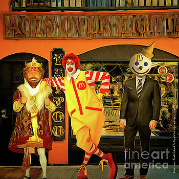 Wingsdomain Art and Photography - Besties Forever Ronald Jack and The King Gets Head Tattoos At The Parlor 20160625 square