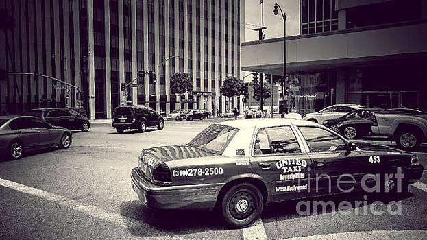 Beverly Hills - Taxi - Wilshire Boulevard Intersection by Pete Edmunds