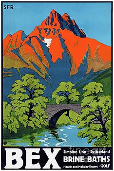Bex Switzerland Vintage Travel Poster Restored by Carsten Reisinger