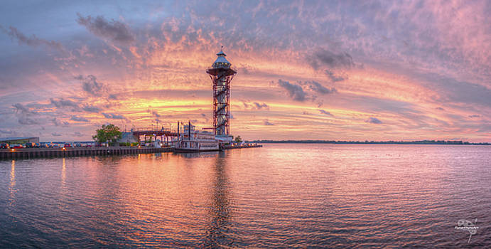 Bicentennial Tower with Afterglow by Brian Fisher