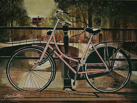Bicycle in Amsterdam by Bill Dunkley