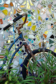 Bicycle Mosaic by Heather S Huston