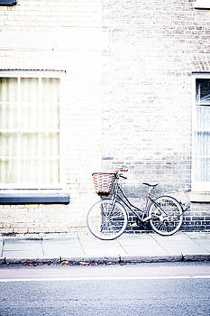 Bicycle With Basket by David Ridley