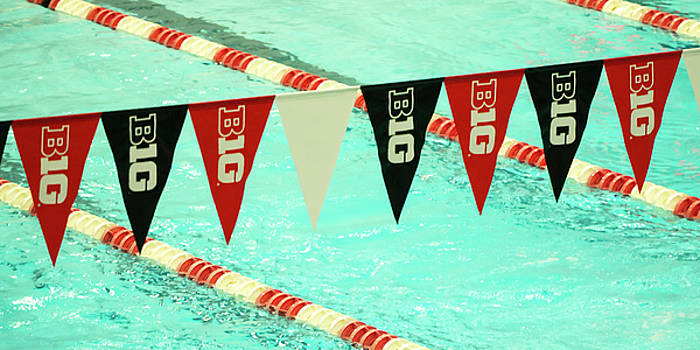 Big 10 pennants - UW Madison  by Steven Ralser