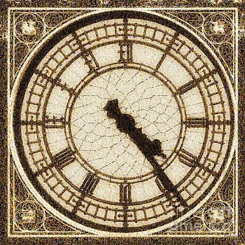 Wingsdomain Art and Photography - Big Ben Clock Color By Numbers 20161115 sepia