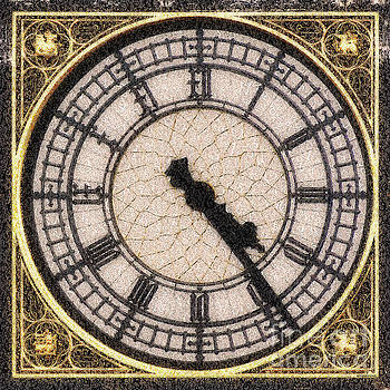 Wingsdomain Art and Photography - Big Ben Clock Color By Numbers 20161115