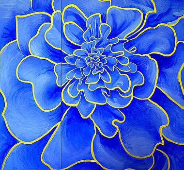Big Blue Flower by Geoff Greene