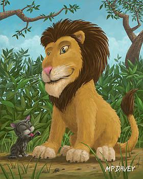 Martin Davey - big lion small cat