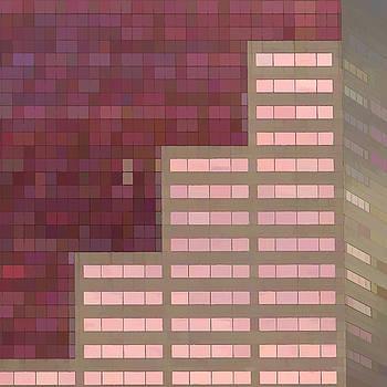 Big Pink Abstract by Noel Zia Lee