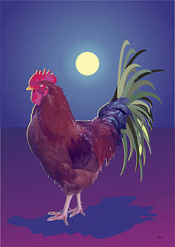 Big rooster by Quim Abella