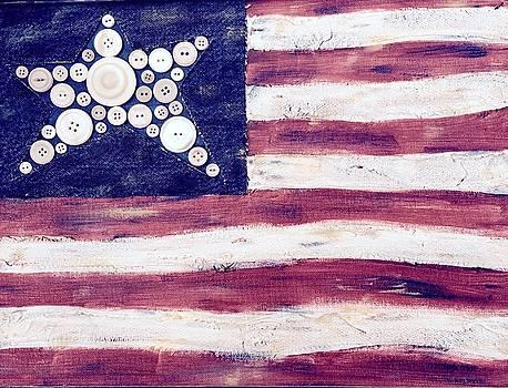 Big Star Flag by Carol Neal