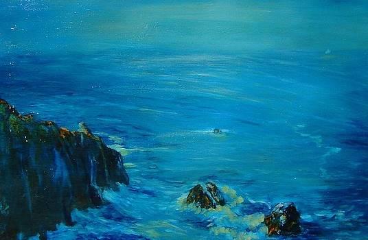 Big Sur California Evening Twilight II by Phyllis OShields