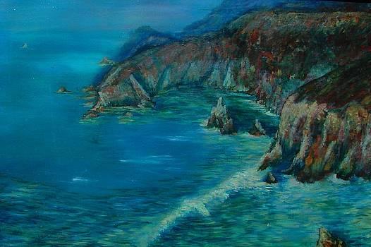 Big Sur California Evening Twilight by Phyllis OShields