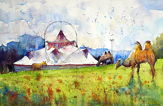 Big top and camels by Andre MEHU