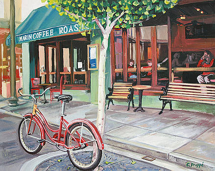 Bike at the Coffee Shop by Colleen Proppe