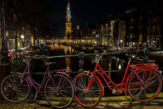 Bikes over the Prinsengracht by John Daly
