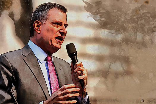 Bill de Blasio by Kai Saarto