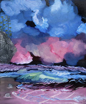 Billowy Clouds Afloat by Meryl Goudey